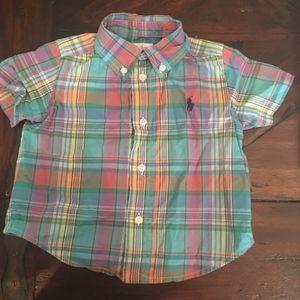 Ralph Lauren Plaid, Short Sl, Button-up Shirt 9m